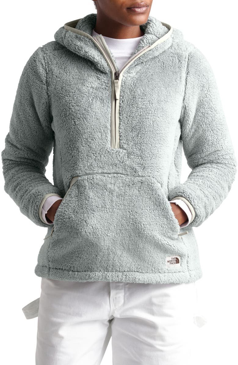 THE NORTH FACE Campshire High Pile Fleece Pullover Hoodie, Main, color, 023