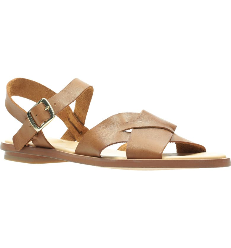 CLARKS<SUP>®</SUP> Willow Gild Sandal, Main, color, TAN LEATHER