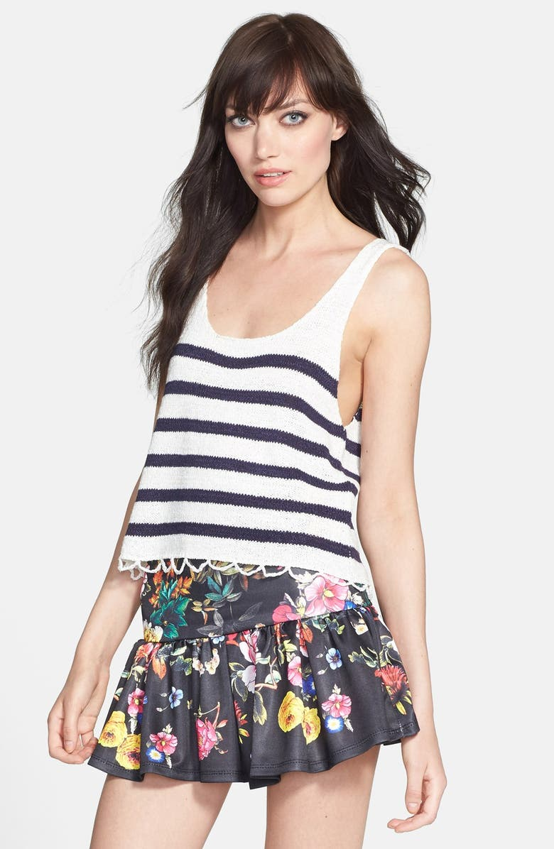 MINKPINK 'Next in Line' Knit Tank, Main, color, 198