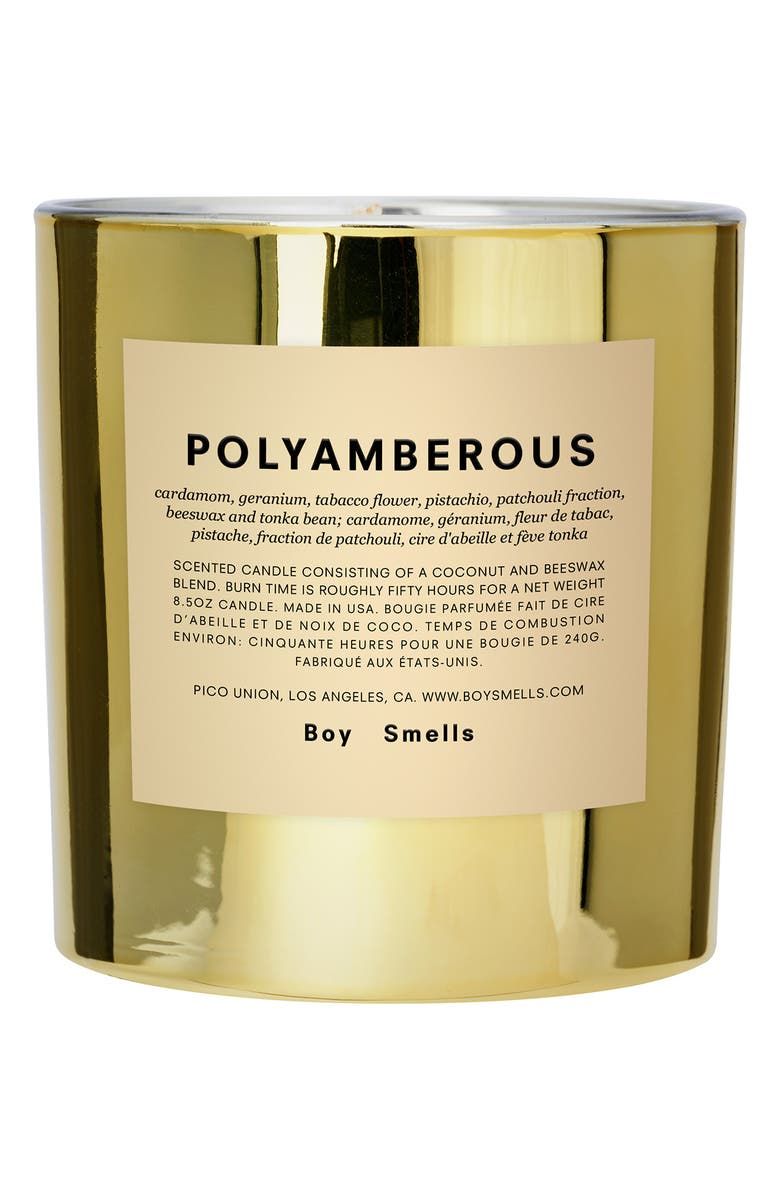 BOY SMELLS Hypernature Polyamberous Scented Candle, Main, color, NO COLOR