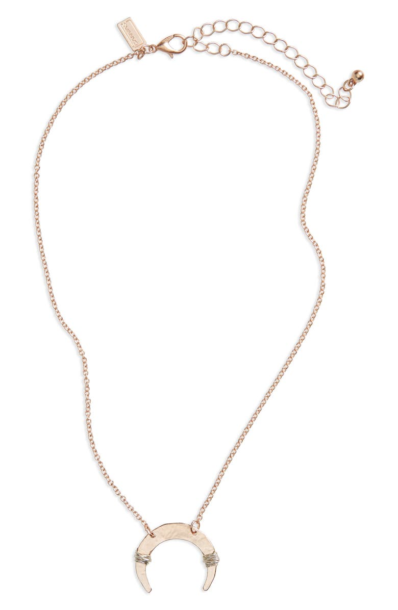 CANVAS JEWELRY Wire Wrapped Pendant Necklace, Main, color, ROSE GOLD