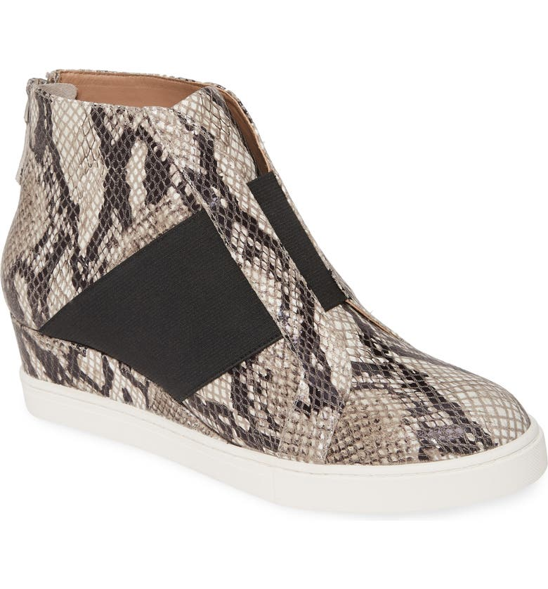LINEA PAOLO Amber Wedge Sneaker, Main, color, PYTHON PRINT LEATHER