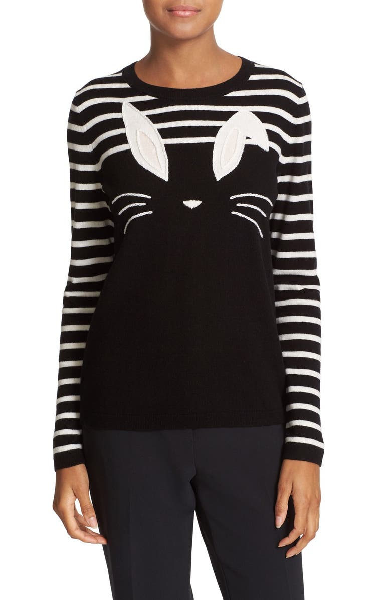 KATE SPADE NEW YORK bunny wool blend sweater, Main, color, 017