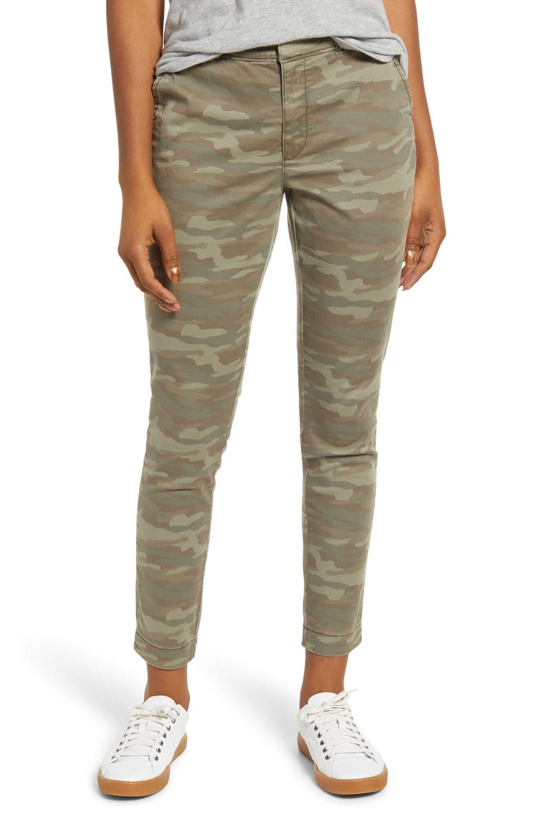 CASLON<SUP>®</SUP> New Chino Pants, Main, color, OLIVE FADED CAMO PRINT