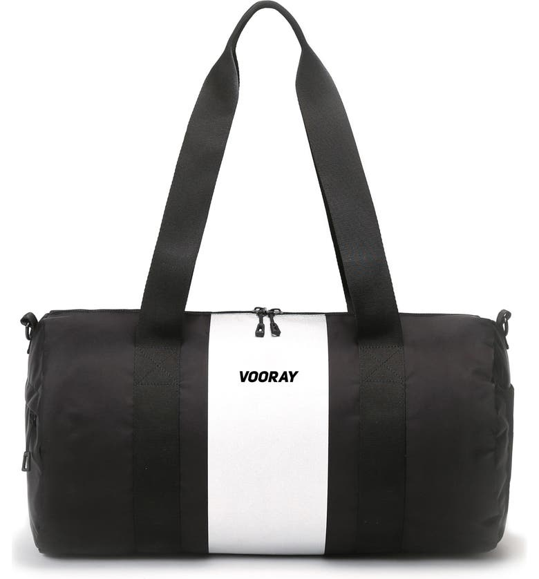 VOORAY Iconic Duffle Bag, Main, color, SILVER STRIPE