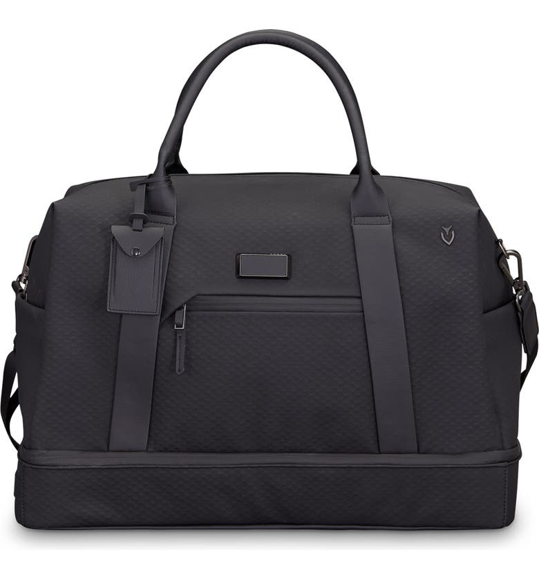 VESSEL Signature 2.0 Boston Faux Leather Duffle Bag, Main, color, TECH BLACK