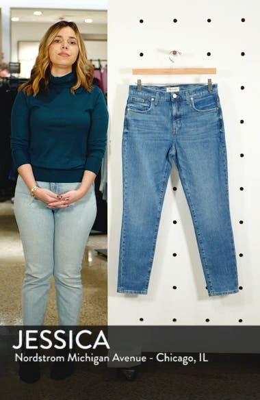 9-Inch High Waist Stretch Skinny Jeans, sales video thumbnail