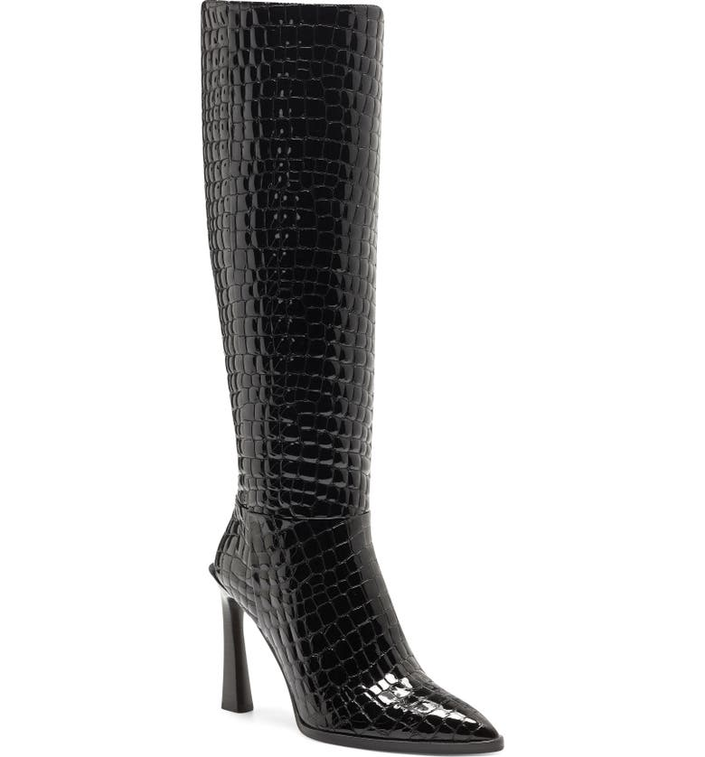 VINCE CAMUTO Pelsna Knee High Boot, Main, color, BLACK LEATHER