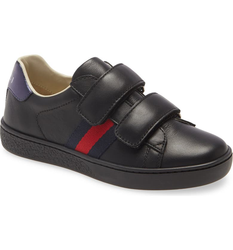 GUCCI New Ace Sneaker, Main, color, BLACK/ RED/ BLUE