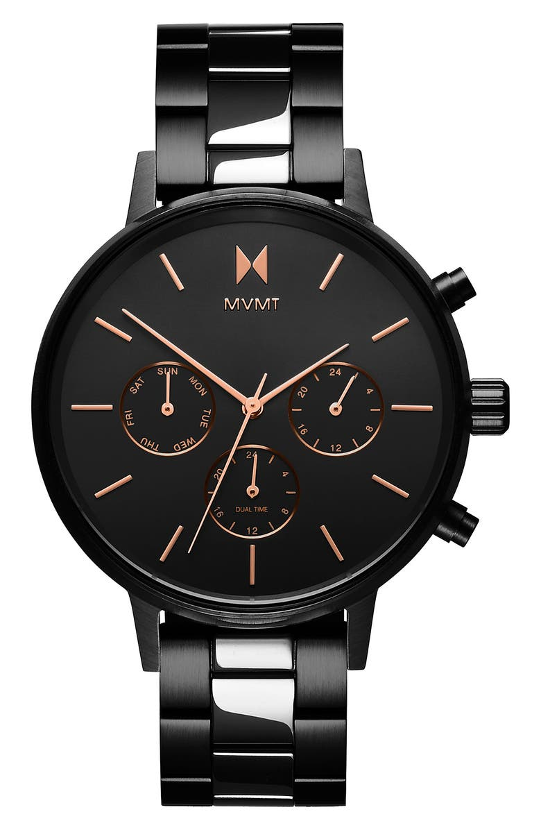 MVMT Nova Chronograph Bracelet Watch, 38mm, Main, color, 001
