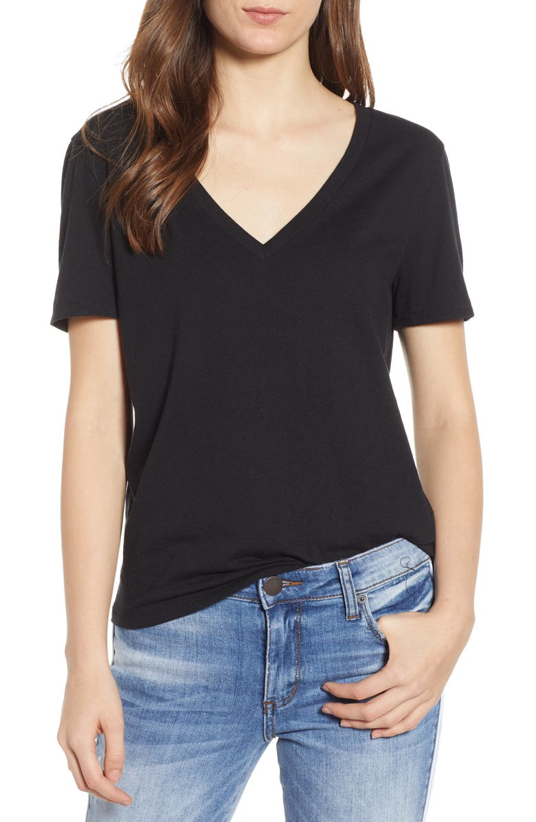 BP. V-Neck Tee, Main, color, 001