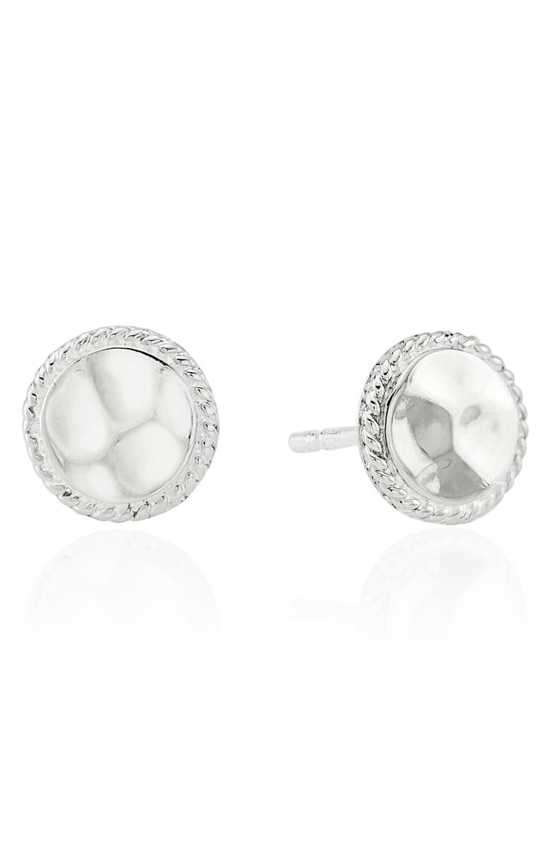 ANNA BECK Hammered Stud Earrings, Main, color, 040