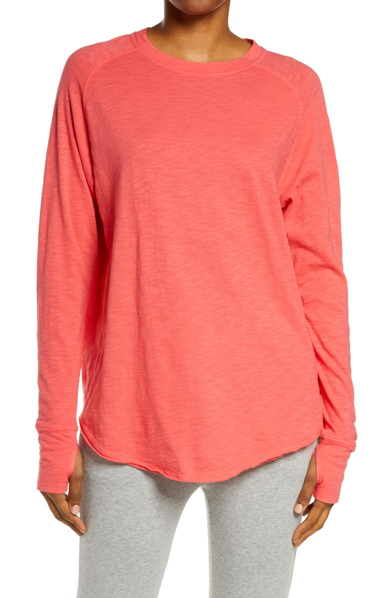 ZELLA Relaxed Long Sleeve T-Shirt, Main, color, PINK PARADISE