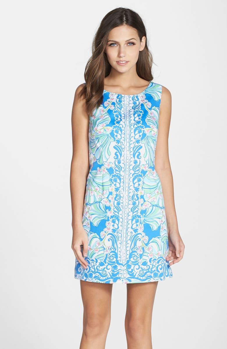 LILLY PULITZER<SUP>®</SUP> 'Cathy' Cotton Shift Dress, Main, color, 421