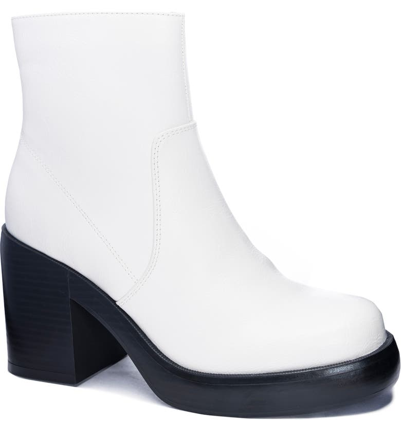 DIRTY LAUNDRY Groovy Platform Boot, Main, color, WHITE FAUX LEATHER