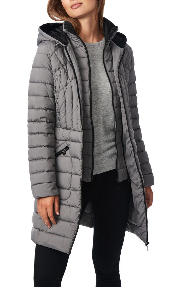 BERNARDO Down & PrimaLoft<sup>®</sup> Walker Jacket, Main, color, CHARCOAL
