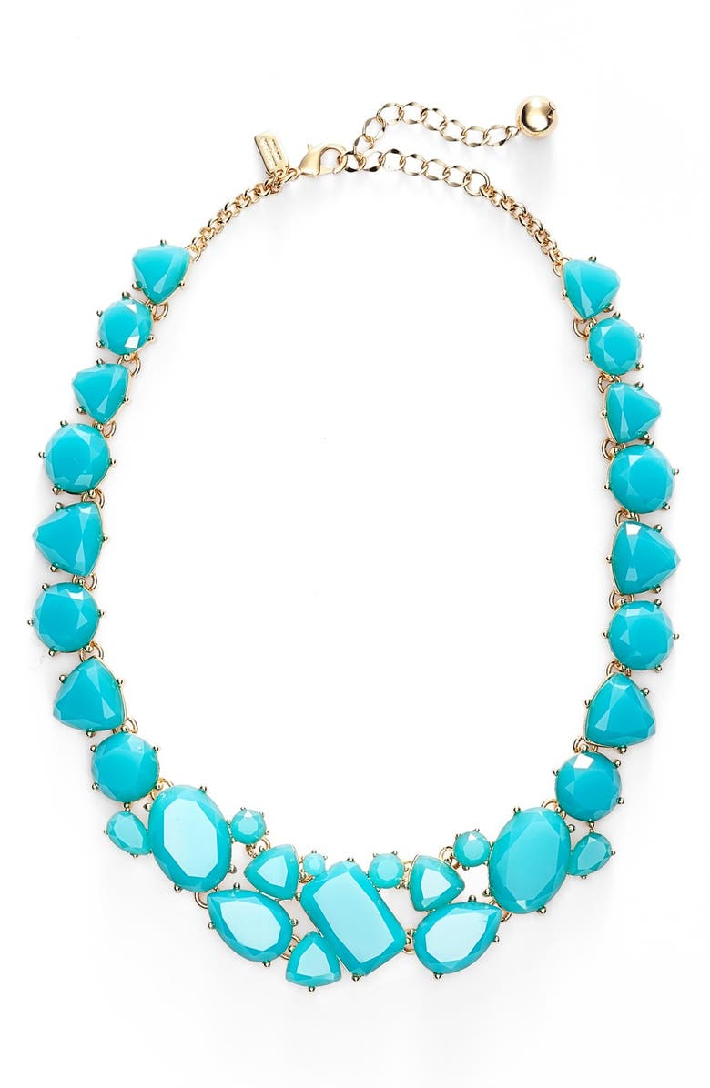 KATE SPADE NEW YORK 'color pop' necklace, Main, color, TURQUOISE