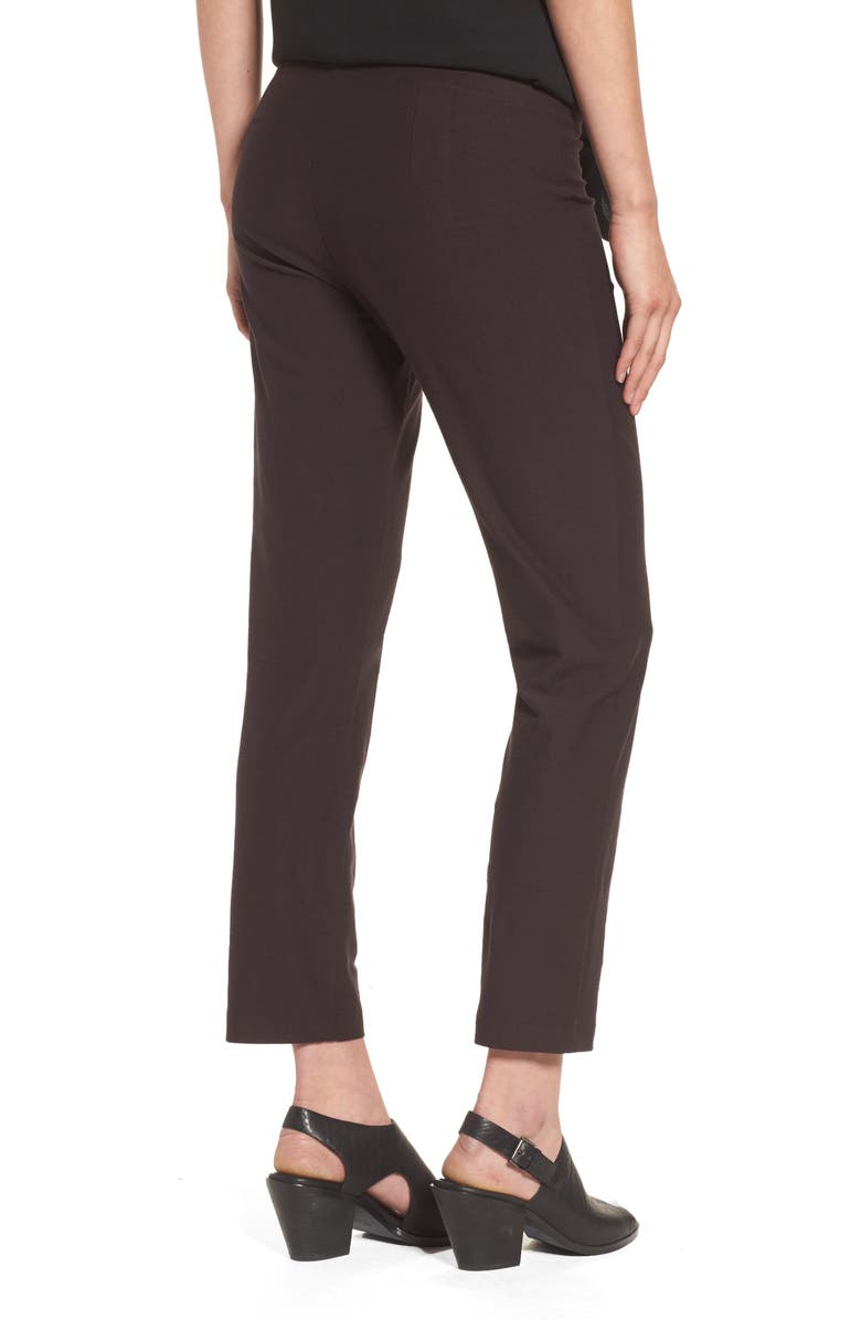 EILEEN FISHER Stretch Crepe Slim Ankle Pants, Main, color, 022