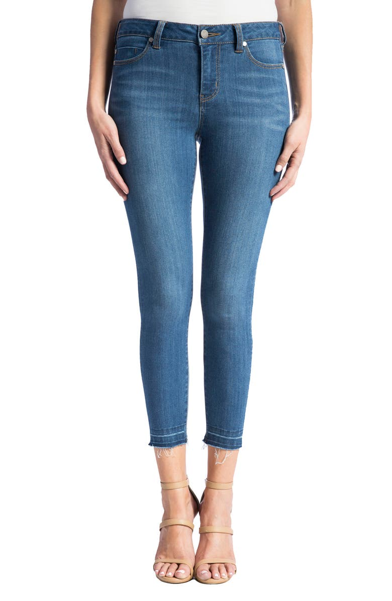 LIVERPOOL Avery High Rise Release Hem Stretch Crop Skinny Jeans, Main, color, CORONADO MID