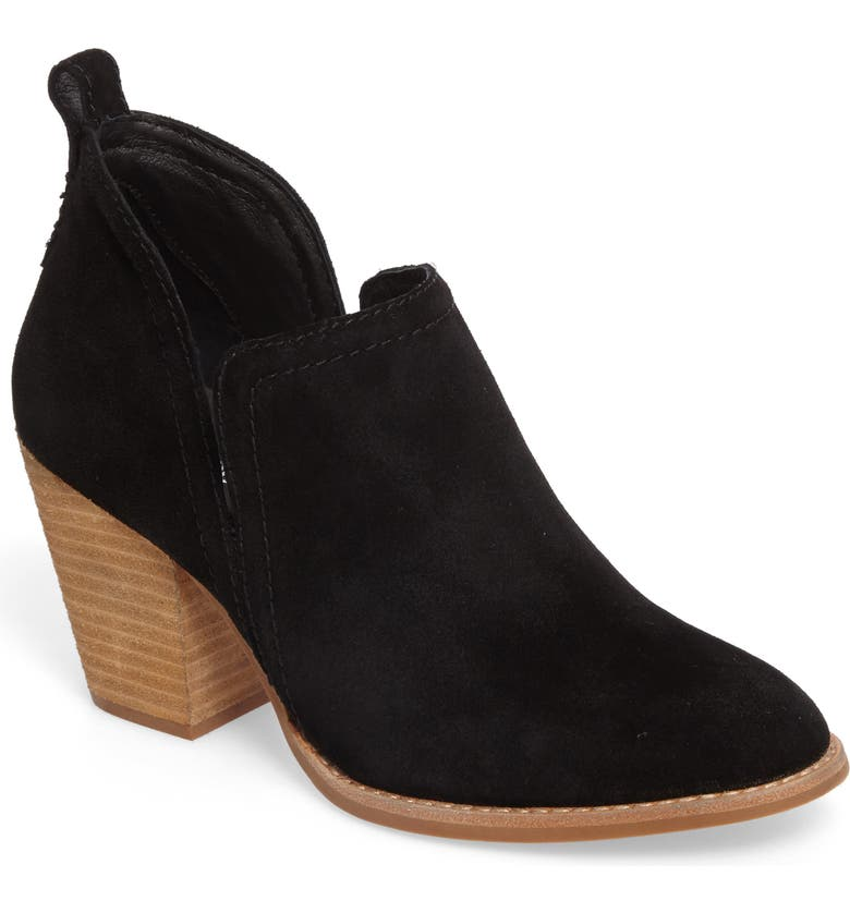 JEFFREY CAMPBELL Rosalee Bootie, Main, color, BLACK OILED SUEDE