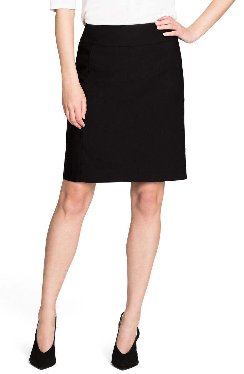 NIC+ZOE Wonderstretch Skirt, Main, color, BLACK ONYX