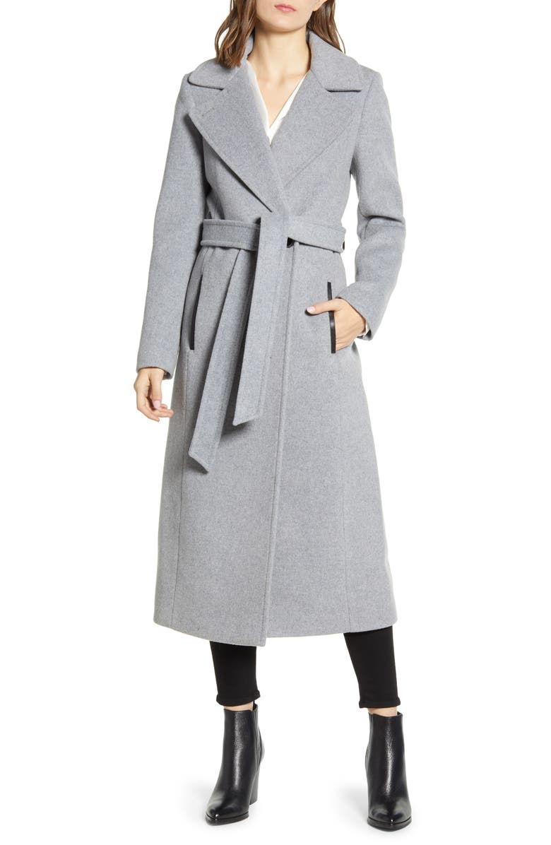 MACKAGE Evaline-S Long Wool Blend Coat, Main, color, 020