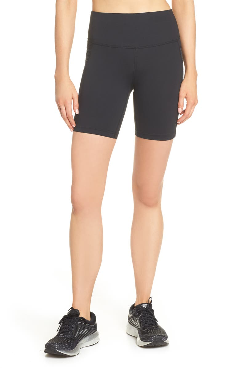 BROOKS Greenlight Fitted Shorts, Main, color, BLACK