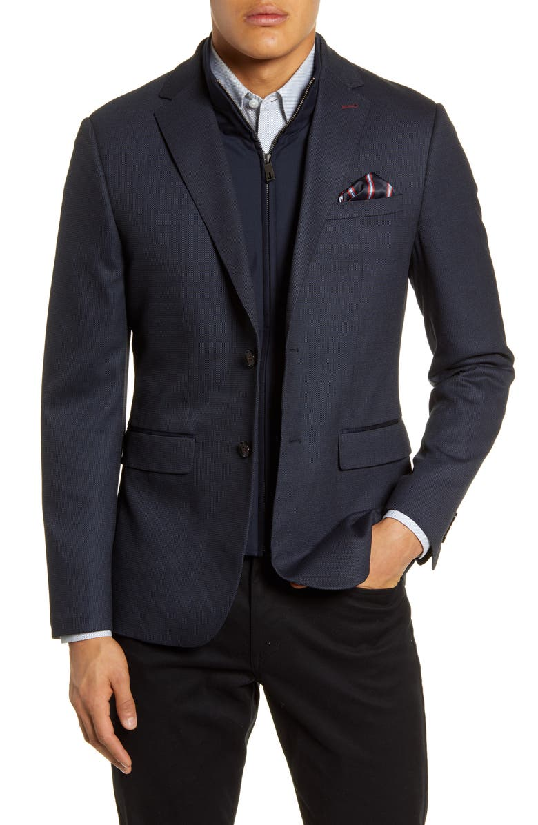 TED BAKER LONDON Rhino Slim Fit Sport Coat with Insert, Main, color, 410