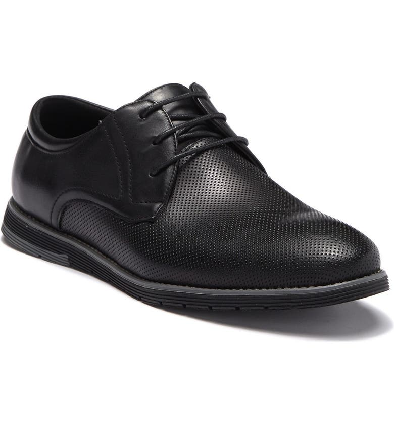 ENGLISH LAUNDRY Chap Perforated Derby Shoe, Main, color, BLACK