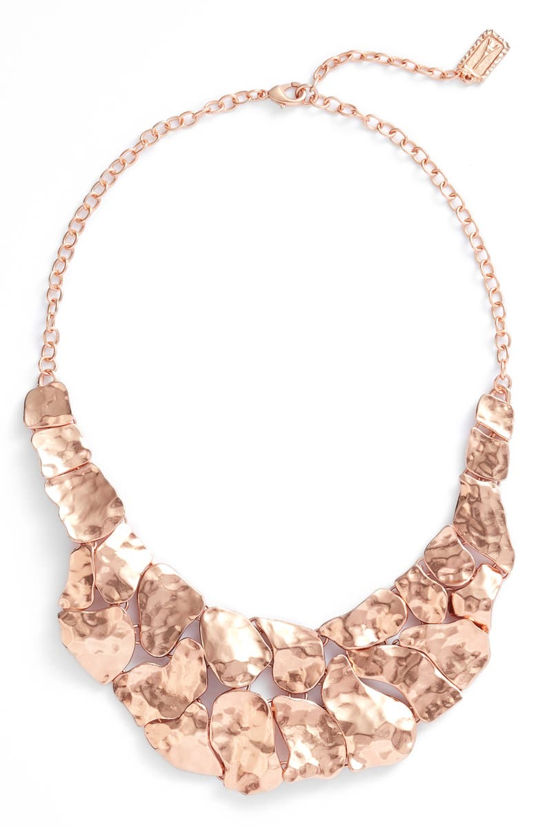 KARINE SULTAN Alice Statement Necklace, Main, color, ROSE GOLD