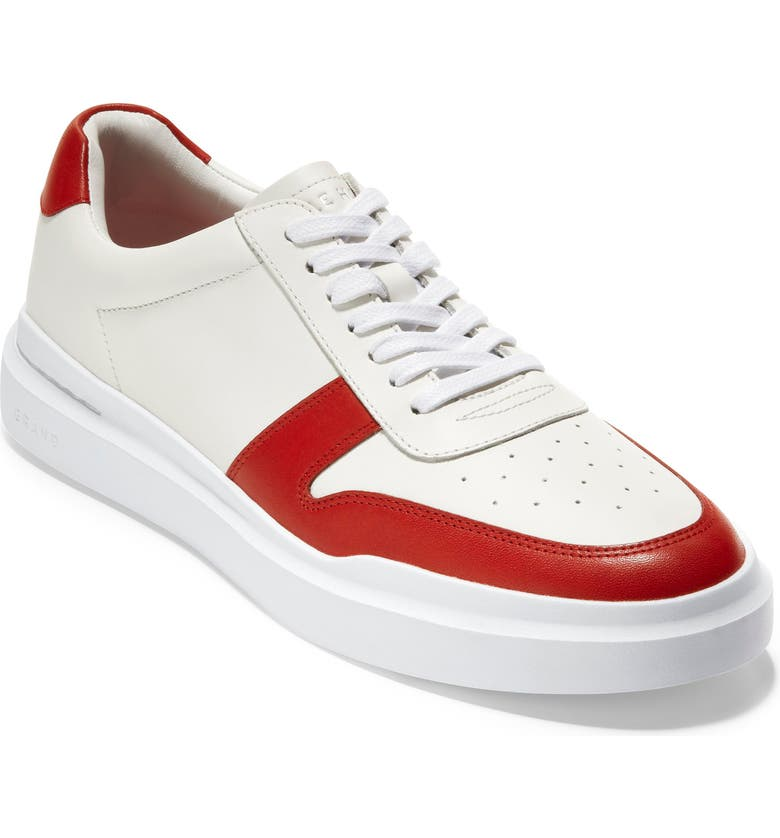 COLE HAAN GrandPro Rally Court Sneaker, Main, color, WHITE / RED