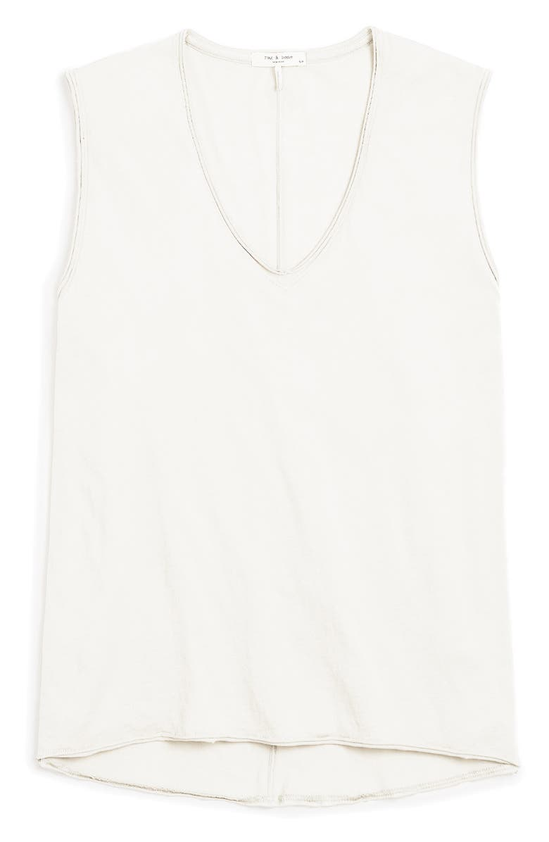 RAG & BONE The Gaia Organic Pima Cotton Tank, Main, color, 100