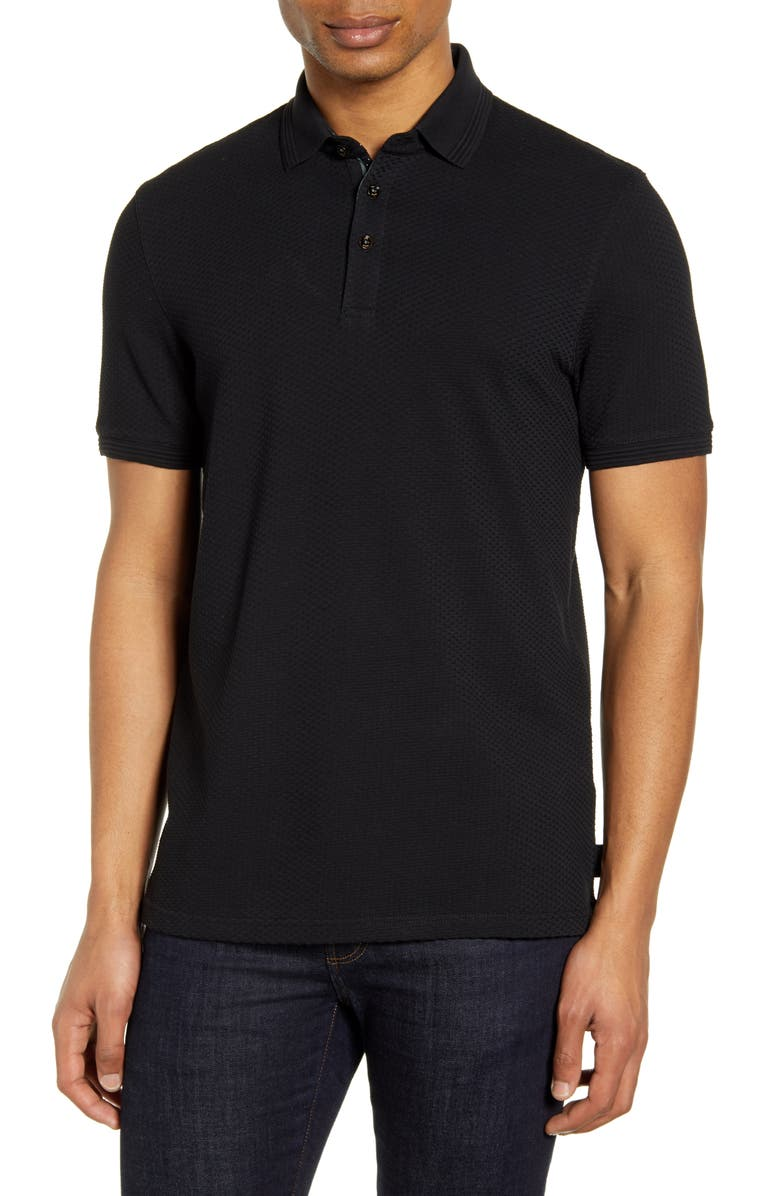 TED BAKER LONDON Infuse Slim Fit Polo, Main, color, 001