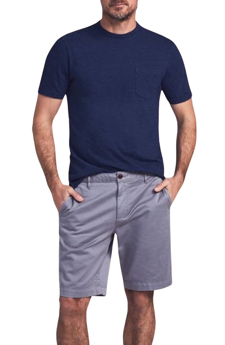 FAHERTY BRAND Stretch Chino Shorts, Main, color, STEEL
