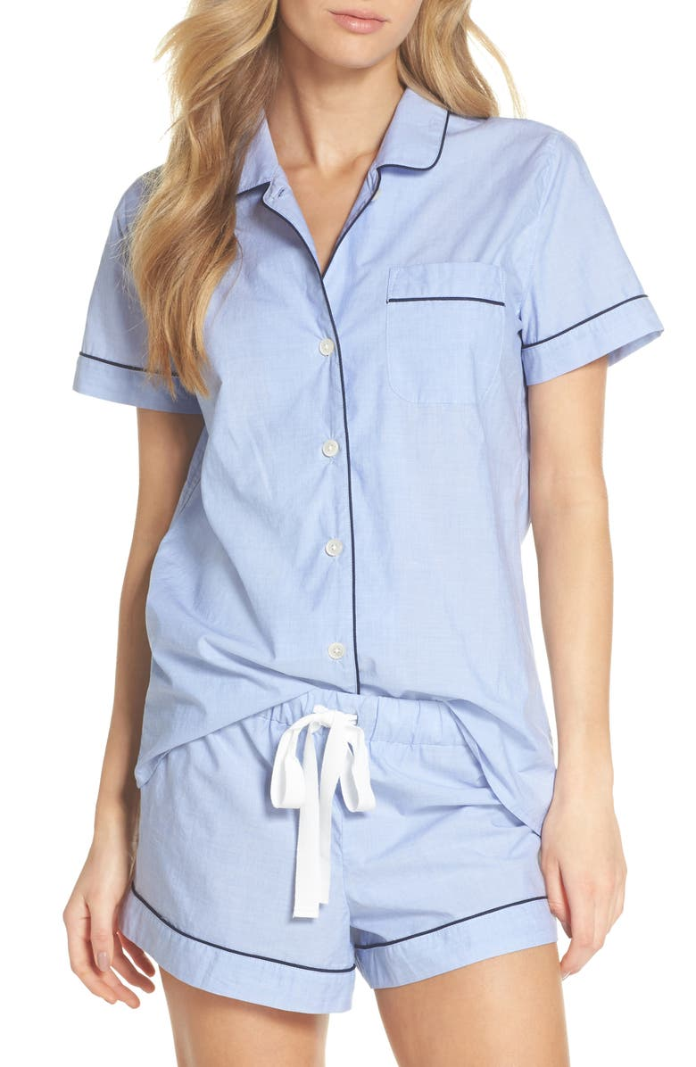 J.CREW Tipped Short Pajamas, Main, color, 400