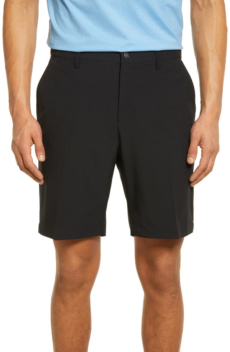 ADIDAS GOLF Ultimate365 Water Resistant Performance Shorts, Main, color, BLACK