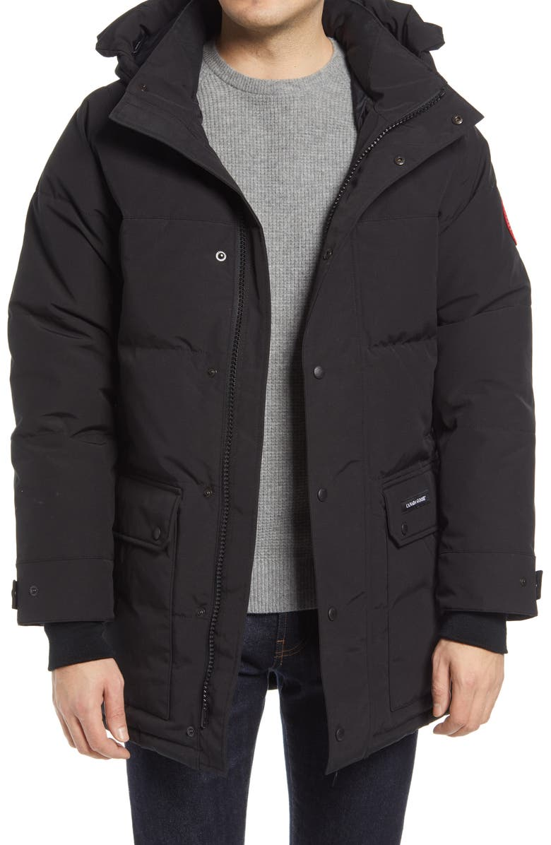 CANADA GOOSE Emory 625 Fill Power Down Parka, Main, color, BLACK