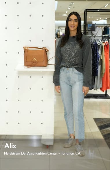 Small Joan Suede & Leather Crossbody Bag, sales video thumbnail