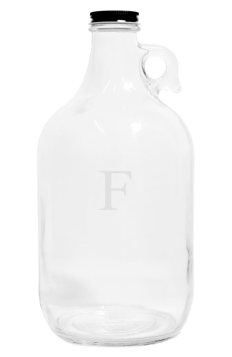 CATHY'S CONCEPTS Monogram Craft Beer Growler, Main, color, CLEAR-F