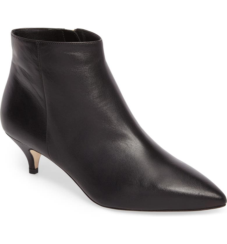KATE SPADE NEW YORK pointy toe bootie, Main, color, BLACK NAPPA