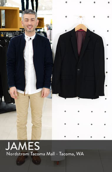 Skinny Fit One-Button Suit Jacket, sales video thumbnail
