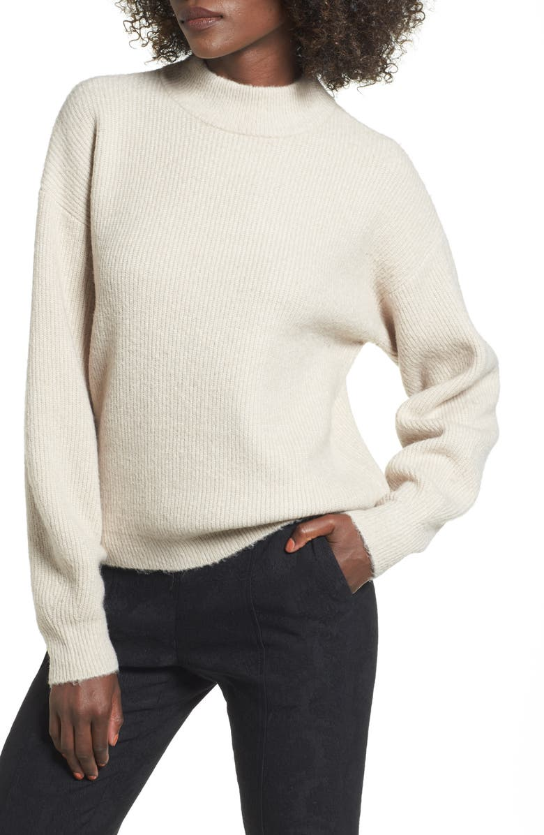 LEITH Cozy Ribbed Pullover, Main, color, 050