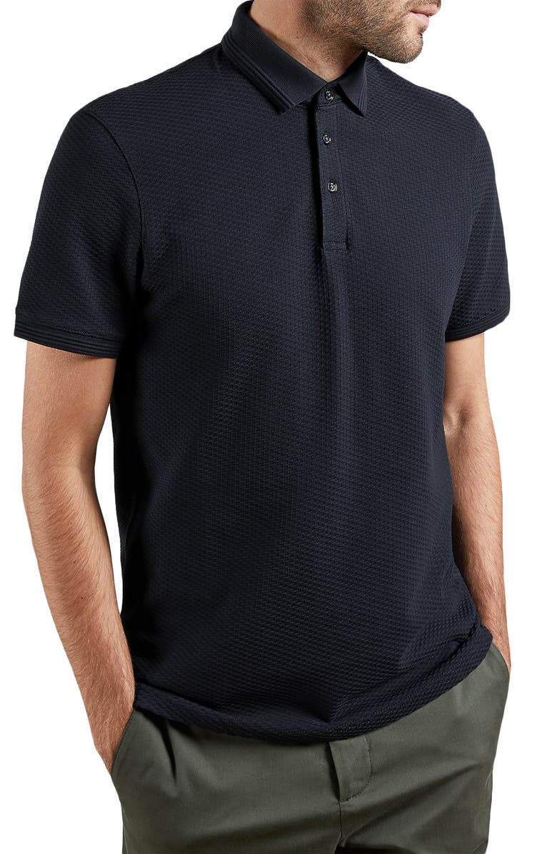 TED BAKER LONDON Infuse Slim Fit Polo, Main, color, DARK NAVY