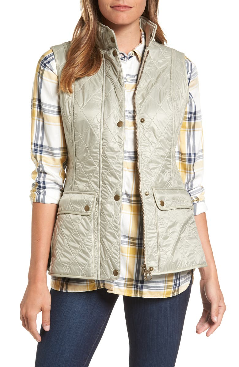 BARBOUR Wray Water Resistant Quilted Gilet, Main, color, 270