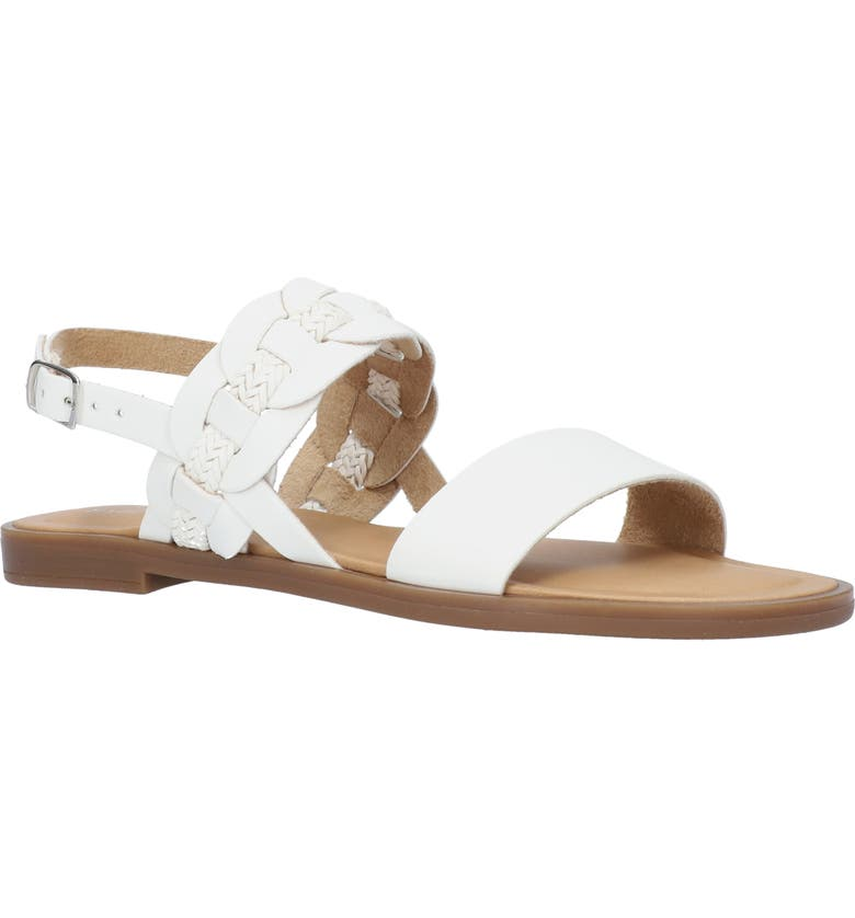 TUSCANY BY EASY STREET<SUP>®</SUP> Teodora Sandal, Main, color, WHITE FAUX LEATHER