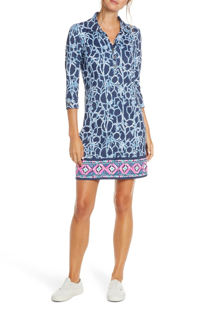 LILLY PULITZER<SUP>®</SUP> Ansley UPF 50+ Polo Dress, Main, color, 434