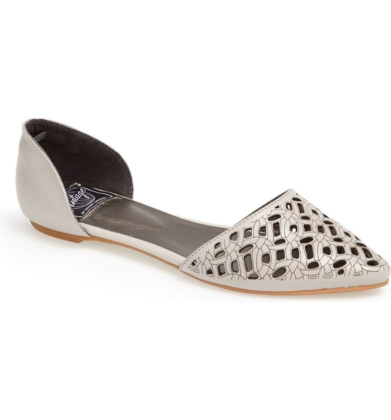 JEFFREY CAMPBELL 'In Love' Laser Cut d'Orsay Flat, Main, color, GREY