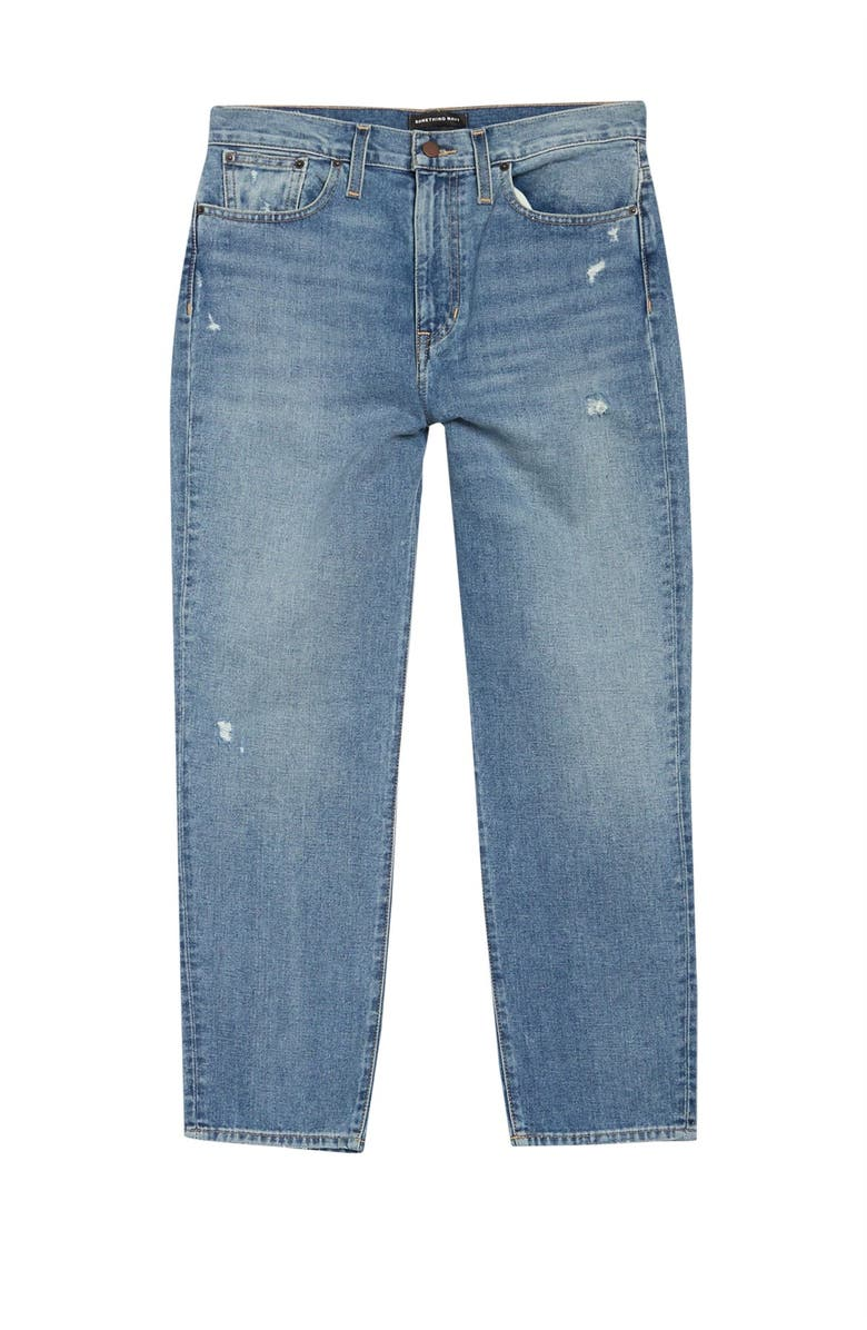 SOMETHING NAVY Cigarette Jeans, Main, color, 401