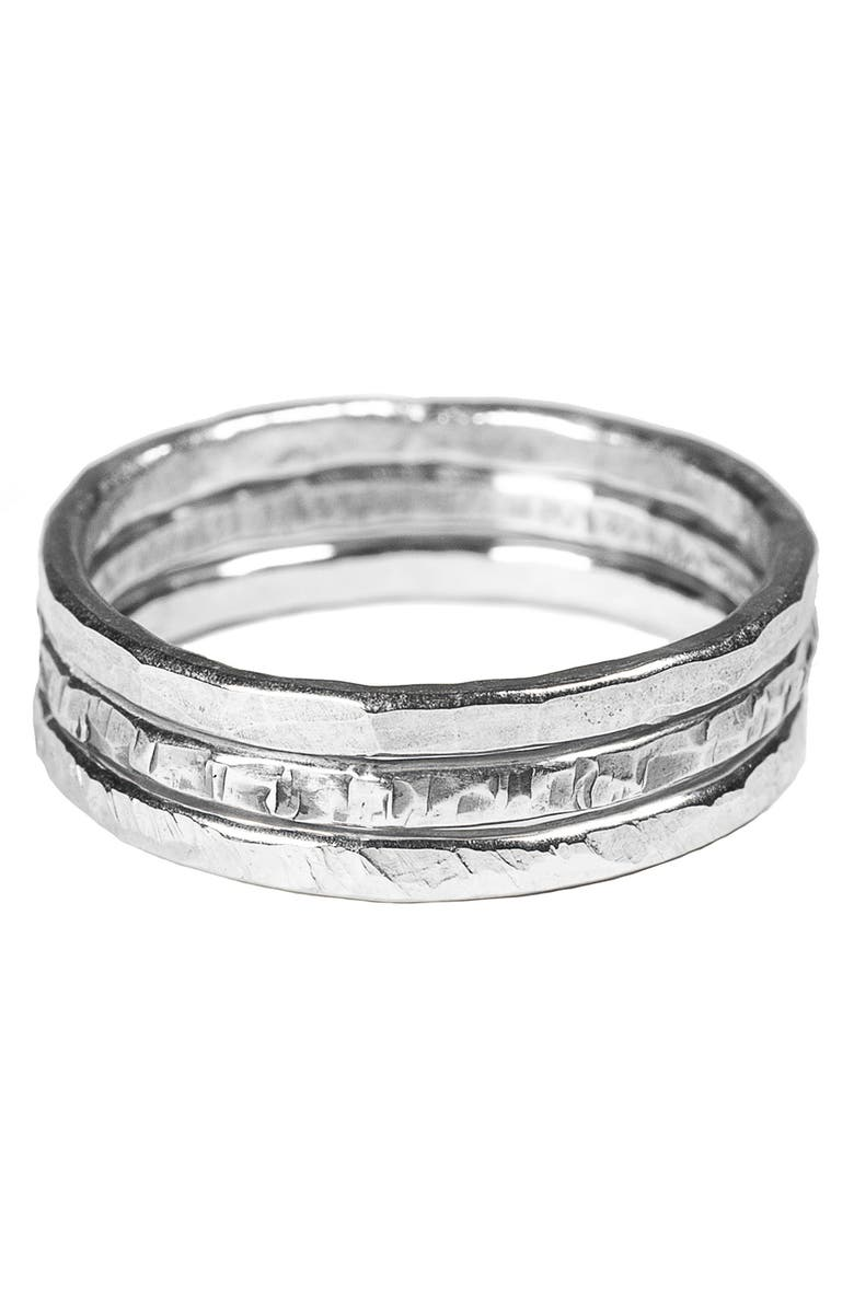 NASHELLE 3-Pack Stacking Rings, Main, color, Silver