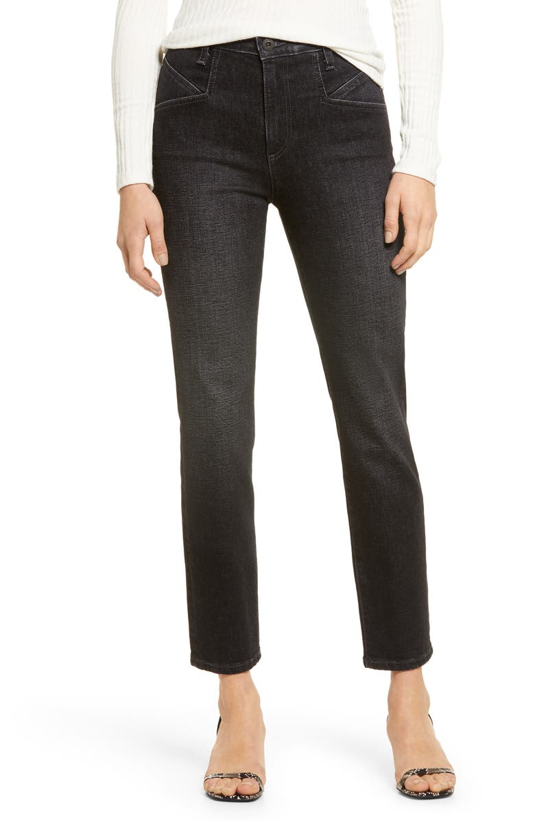 AG Isabelle Straight Leg Ankle Jeans, Main, color, HOLLOW ROAD
